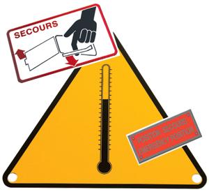 plaques de sécurité