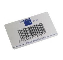 plaque code barre