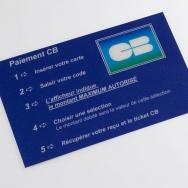 étiquettes paiement, étiquette en polycarbonate