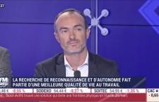 Photo de l'émission avec Laurent Bizien sur BFM Business